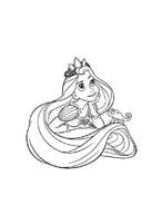 Rapunzel da colorare 53