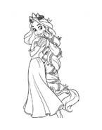 Rapunzel da colorare 66