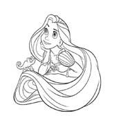 Rapunzel da colorare 85