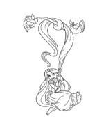 Rapunzel da colorare 87