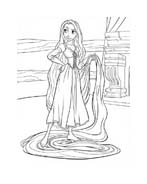 Rapunzel da colorare 95