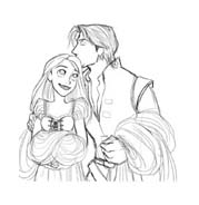 Rapunzel da colorare 99