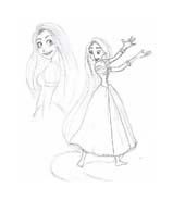 Rapunzel da colorare 109