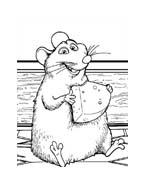 Ratatouille da colorare 12