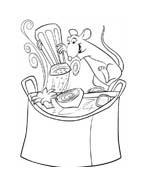 Ratatouille da colorare 40