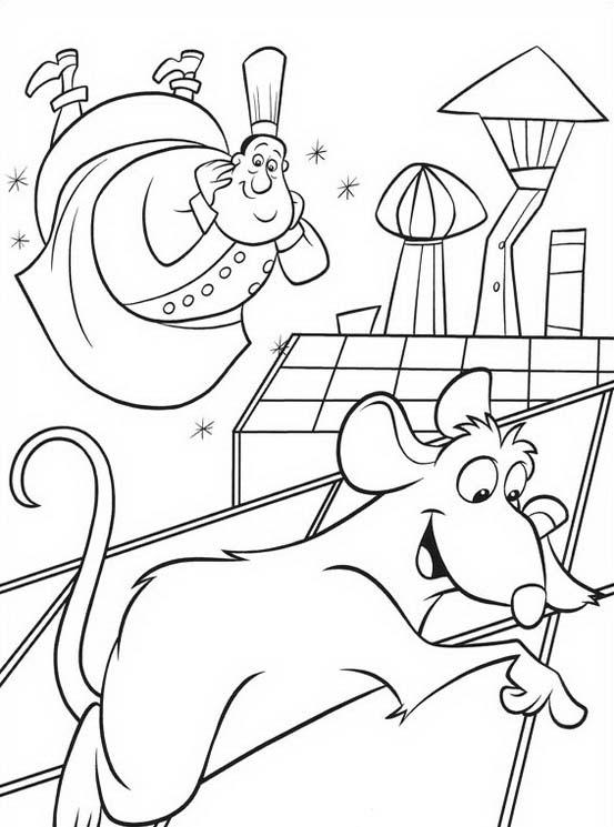 Ratatouille da colorare 44