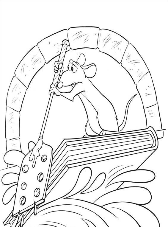 Ratatouille da colorare 111