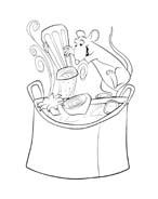 Ratatouille da colorare 72