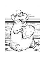 Ratatouille da colorare 87