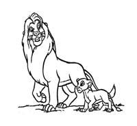 Il re leone da colorare 13