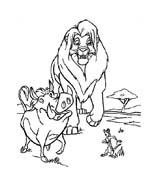 Il re leone da colorare 133