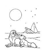Il re leone da colorare 136