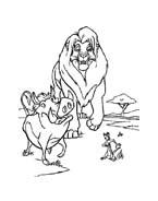 Il re leone da colorare 152