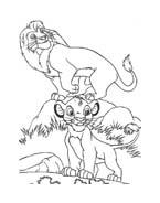 Il re leone da colorare 185