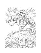Il re leone da colorare 245