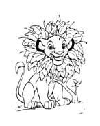 Il re leone da colorare 250