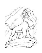Il re leone da colorare 263