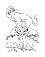 Il re leone da colorare 280