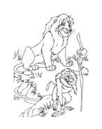 Il re leone da colorare 287