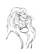 Il re leone da colorare 296