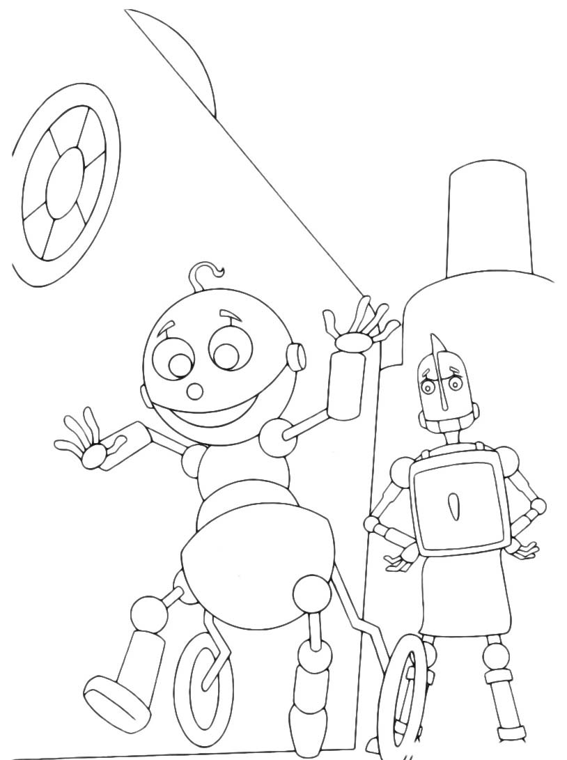 Robots da colorare 40