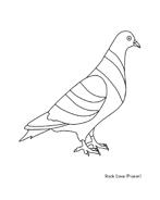 Uccello da colorare 217