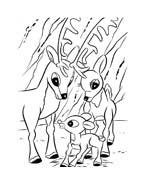 Rudolph da colorare 4