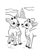 Rudolph da colorare 12
