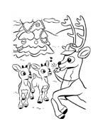 Rudolph da colorare 13