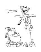 Rudolph da colorare 15