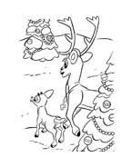 Rudolph da colorare 18