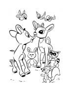 Rudolph da colorare 19