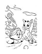 Rudolph da colorare 25
