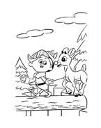 Rudolph da colorare 26