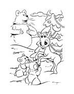 Rudolph da colorare 41