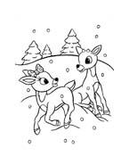 Rudolph da colorare 61