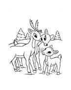 Rudolph da colorare 74