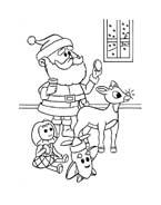 Rudolph da colorare 76