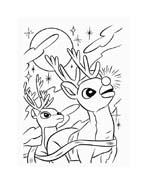 Rudolph da colorare 91