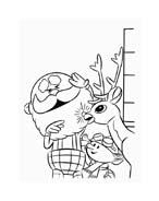 Rudolph da colorare 96