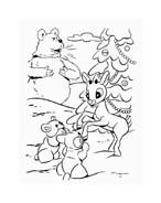 Rudolph da colorare 107