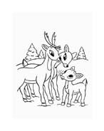 Rudolph da colorare 123