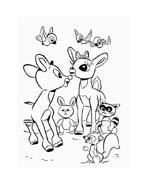 Rudolph da colorare 131