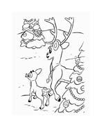 Rudolph da colorare 132