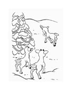 Rudolph da colorare 133