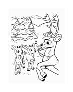 Rudolph da colorare 138