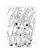 Rudolph da colorare 148