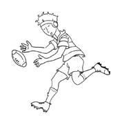 Rugby da colorare 2