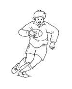 Rugby da colorare 3