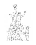 Rugby da colorare 5